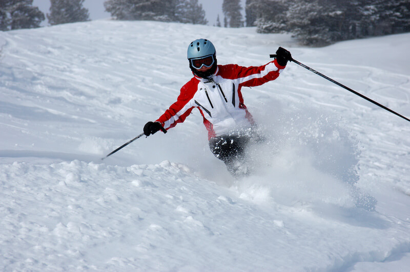 An image of a person skiing